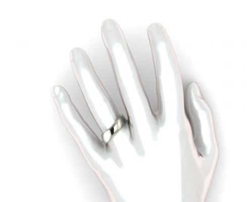 ergonomischer Ring an Hand