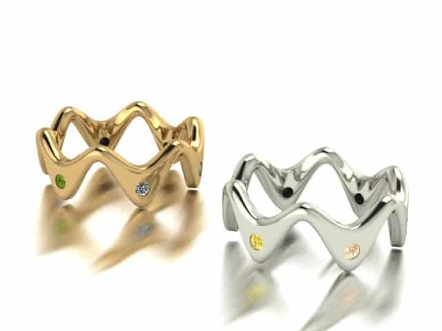 schmuckring naturfarbene diamanten