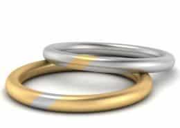 ausgefallene eheringe weisgold gelbgold750