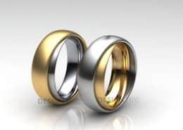 Ring im Ring Trauringe Gelbgold Weissgold