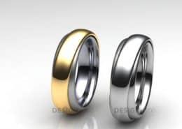Ring im Ring Trauringe Gelbgold Palladium