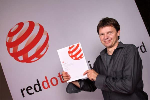 Bild von Designer M.Wülfing bei Red Dot Design Preisverleihung