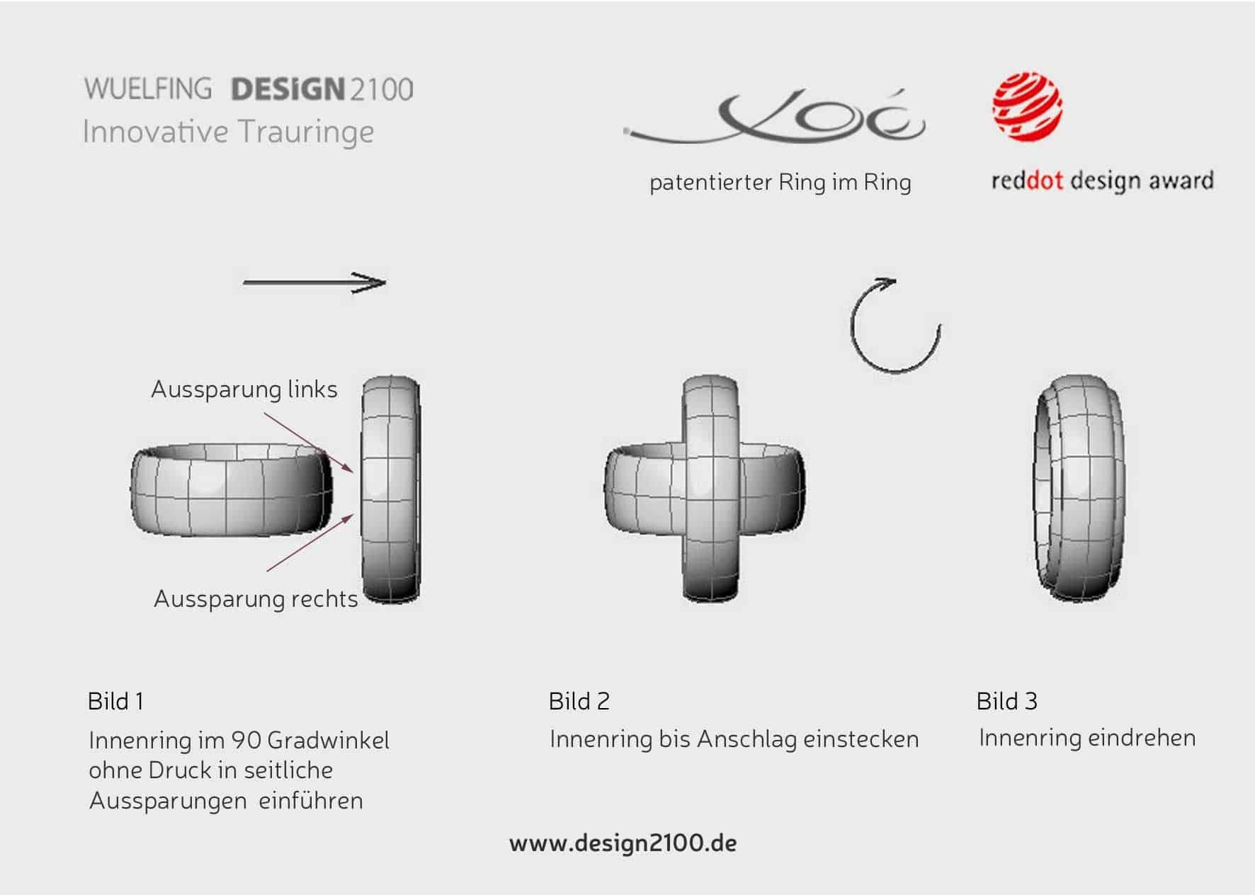 Montageanleitung vom Ring im Ring Partnerring