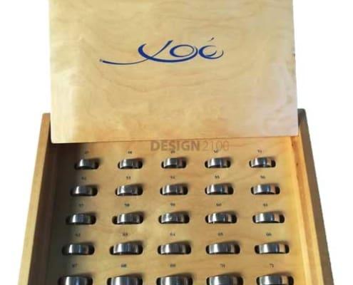 Ringgrößenkasten Messung Musterringe Xoe