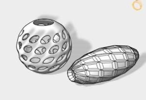 Kugel Zylinder in 3D