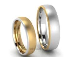 Eheringe-Multicolour-Gelbgold-Silber-