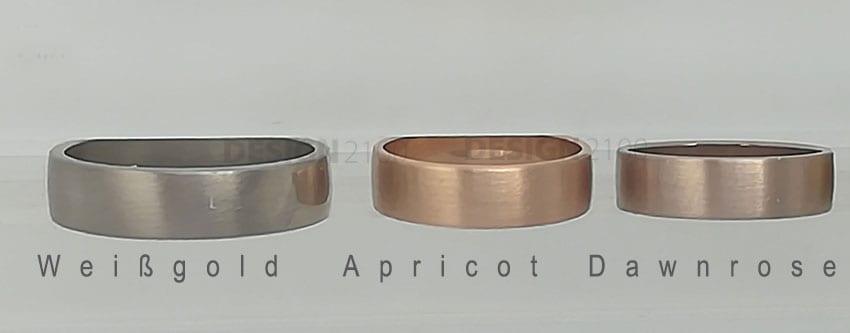 Edelmetalle Vergleich Gold 750 Matt