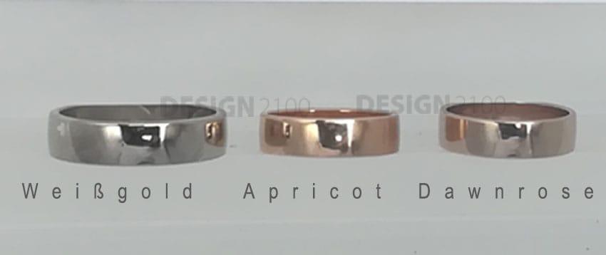 Edelmetalle Vergleich Gold 750 poliert