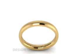 Verlobungsring Gold mit Lasergravur Brillant