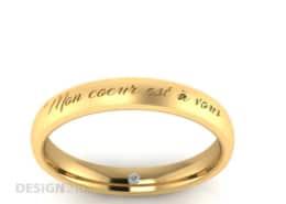 Ausgefallene Verlobungsringe Lasergravur Brillant