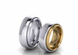 breite trauringe design platin gold