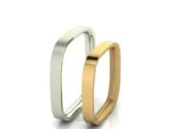 Feine-Eheringe-zweifarbig-Weissgold-Gold-matt-3mm