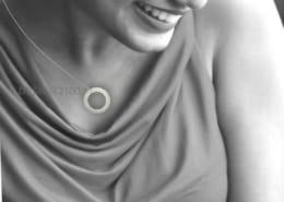 Brillantcollier-Weissgold-Diamanten Dame